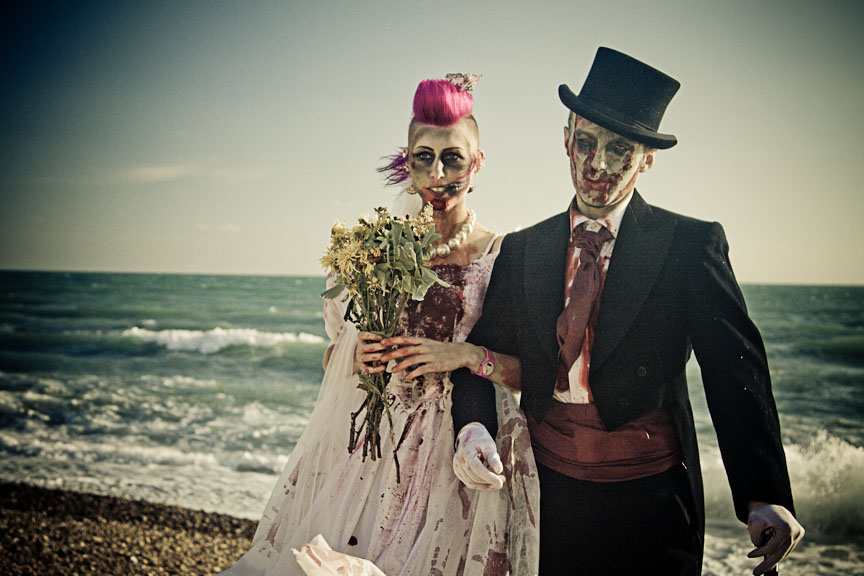 Image result for zombies wedding