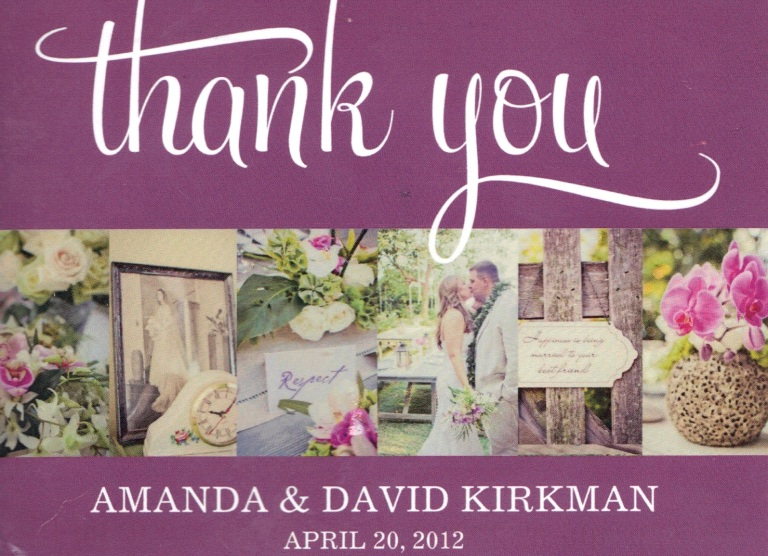 PhotoMadly | Destination Wedding Photographer - Hawaii thank you postcard
