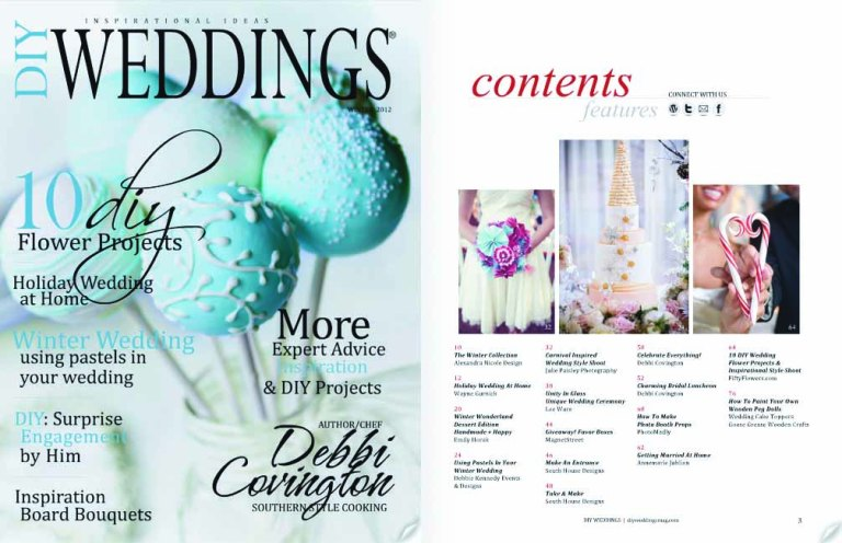 DIY Weddings Mag Cover Contents
